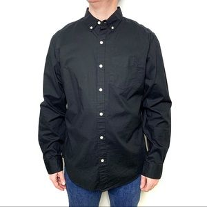OLD NAVY Men's Solid Black Button Down Shirt NWT